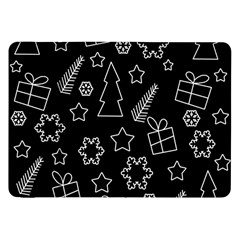 Simple Xmas Pattern Samsung Galaxy Tab 8 9  P7300 Flip Case by Valentinaart