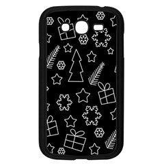Simple Xmas Pattern Samsung Galaxy Grand Duos I9082 Case (black) by Valentinaart