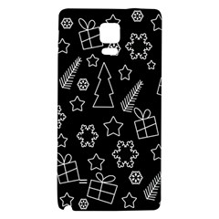 Simple Xmas Pattern Galaxy Note 4 Back Case by Valentinaart
