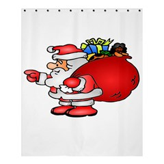 Santa Claus Xmas Christmas Shower Curtain 60  X 72  (medium)  by AnjaniArt