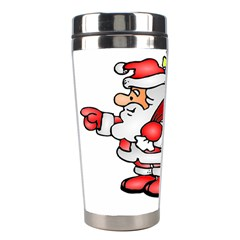 Santa Claus Xmas Christmas Stainless Steel Travel Tumblers by AnjaniArt