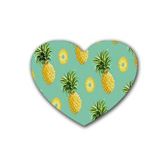 Pineapple Heart Coaster (4 Pack)  by AnjaniArt
