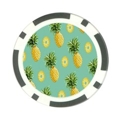 Pineapple Poker Chip Card Guards by AnjaniArt