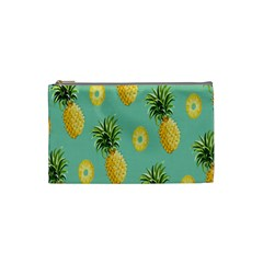 Pineapple Cosmetic Bag (small)  by AnjaniArt