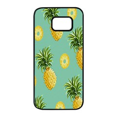 Pineapple Samsung Galaxy S7 Edge Black Seamless Case by AnjaniArt