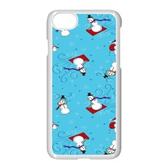 Snowman Apple Iphone 7 Seamless Case (white)