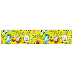 Robot Cartoons Flano Scarf (small) by AnjaniArt