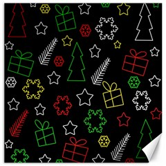 Colorful Xmas Pattern Canvas 16  X 16   by Valentinaart