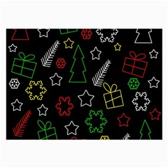 Colorful Xmas Pattern Large Glasses Cloth (2 Side) by Valentinaart
