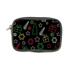 Colorful Xmas Pattern Coin Purse by Valentinaart
