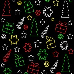 Colorful Xmas pattern Magic Photo Cubes by Valentinaart
