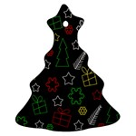 Colorful Xmas pattern Ornament (Christmas Tree) Front