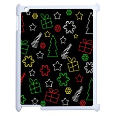 Colorful Xmas Pattern Apple Ipad 2 Case (white) by Valentinaart
