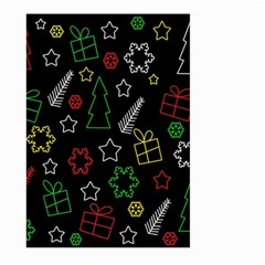 Colorful Xmas Pattern Large Garden Flag (two Sides) by Valentinaart