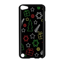 Colorful Xmas Pattern Apple Ipod Touch 5 Case (black) by Valentinaart