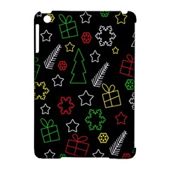 Colorful Xmas Pattern Apple Ipad Mini Hardshell Case (compatible With Smart Cover) by Valentinaart