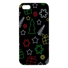 Colorful Xmas Pattern Apple Iphone 5 Premium Hardshell Case by Valentinaart