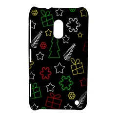 Colorful Xmas Pattern Nokia Lumia 620 by Valentinaart