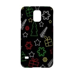 Colorful Xmas Pattern Samsung Galaxy S5 Hardshell Case  by Valentinaart