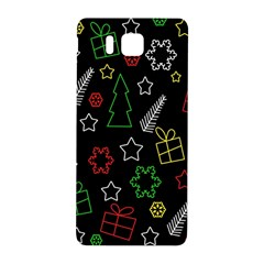 Colorful Xmas Pattern Samsung Galaxy Alpha Hardshell Back Case by Valentinaart