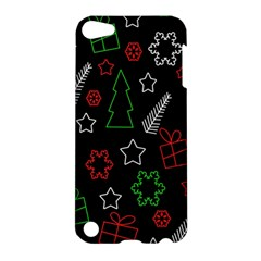 Green And  Red Xmas Pattern Apple Ipod Touch 5 Hardshell Case by Valentinaart
