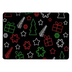 Green And  Red Xmas Pattern Samsung Galaxy Tab 10 1  P7500 Flip Case by Valentinaart