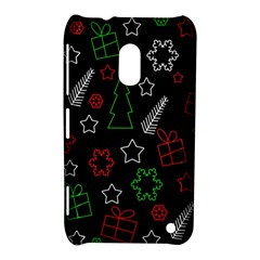 Green And  Red Xmas Pattern Nokia Lumia 620 by Valentinaart