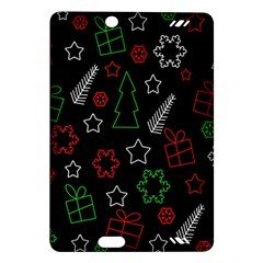 Green And  Red Xmas Pattern Amazon Kindle Fire Hd (2013) Hardshell Case by Valentinaart