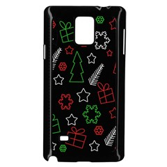 Green And  Red Xmas Pattern Samsung Galaxy Note 4 Case (black) by Valentinaart