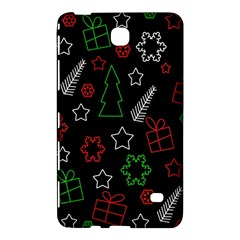Green And  Red Xmas Pattern Samsung Galaxy Tab 4 (8 ) Hardshell Case  by Valentinaart
