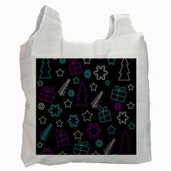 Creative Xmas Pattern Recycle Bag (one Side) by Valentinaart