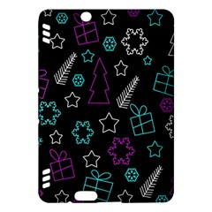 Creative Xmas Pattern Kindle Fire Hdx Hardshell Case by Valentinaart