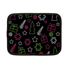 Elegant Xmas Pattern Netbook Case (small)  by Valentinaart
