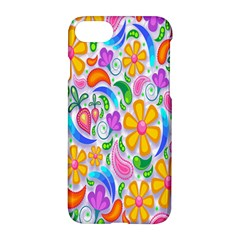 Floral Paisley Background Flower Apple iPhone 7 Hardshell Case by Zeze