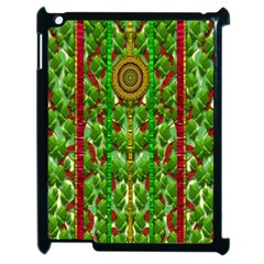 The Golden Moon Over The Holiday Forest Apple Ipad 2 Case (black) by pepitasart