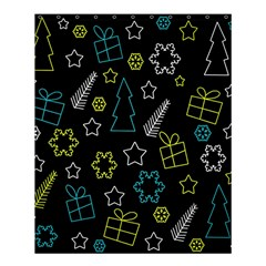 Xmas Pattern   Blue And Yellow Shower Curtain 60  X 72  (medium)  by Valentinaart