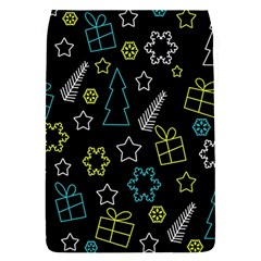 Xmas Pattern   Blue And Yellow Flap Covers (s)  by Valentinaart