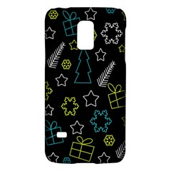 Xmas Pattern   Blue And Yellow Galaxy S5 Mini by Valentinaart