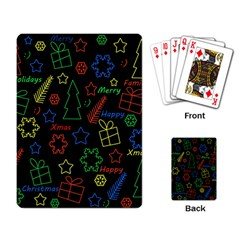 Playful Xmas Pattern Playing Card by Valentinaart