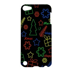 Playful Xmas Pattern Apple Ipod Touch 5 Hardshell Case by Valentinaart