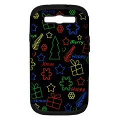Playful Xmas Pattern Samsung Galaxy S Iii Hardshell Case (pc+silicone) by Valentinaart