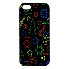 Playful Xmas Pattern Iphone 5s/ Se Premium Hardshell Case by Valentinaart