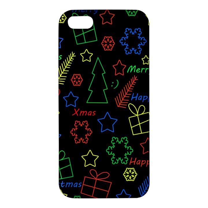Playful Xmas pattern iPhone 5S/ SE Premium Hardshell Case