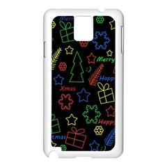 Playful Xmas Pattern Samsung Galaxy Note 3 N9005 Case (white) by Valentinaart