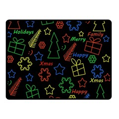 Playful Xmas Pattern Double Sided Fleece Blanket (small)  by Valentinaart
