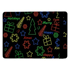 Playful Xmas Pattern Samsung Galaxy Tab Pro 12 2  Flip Case by Valentinaart