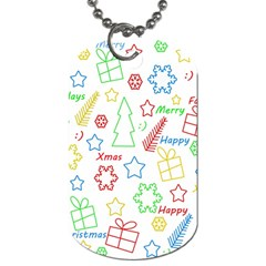 Simple Christmas pattern Dog Tag (Two Sides)