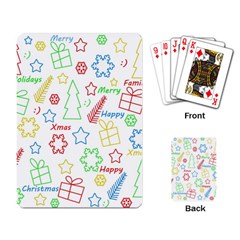 Simple Christmas Pattern Playing Card by Valentinaart