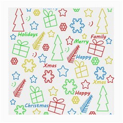 Simple Christmas Pattern Medium Glasses Cloth (2 Side) by Valentinaart
