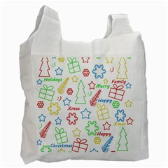 Simple Christmas pattern Recycle Bag (Two Side)